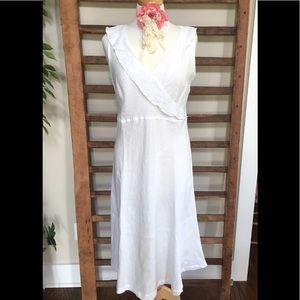 Cut•Loose White Linen Dress S